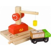 Jucarie educativa Big Jigs Crane Lorry and Cargo