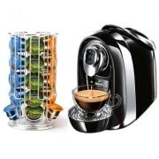 Espressor Tchibo Cafissimo Compact Professional negru in custodie cu abonament Platinum 100 capsule/luna