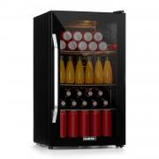 Klarstein Beersafe XXL Onyx, хладилник, A++, LED, 3 метални рафтове, стъклена вратичка, оникс (HEA-Beersafe-XXL-OX)
