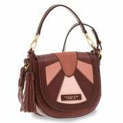 The Bridge Borsa Donna a Mano con Tracolla in Pelle Rosso Rubino linea Barga