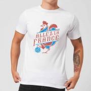 Football Camiseta Fútbol Francia Allez La France - Hombre - Blanco - S - Blanco