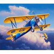 Revell Stearman P-17 Kaydet repülőgép makett