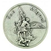 San Miguel Saint St Michael The Archangel Pocket Token With Spanish Prayer