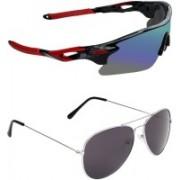 Zyaden Sports, Aviator Sunglasses(Multicolor, Black)