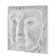 [art.work] Ručně malovaný obraz - Buddha A - plátno napnuté na rámu - 60x60x3,8 cm
