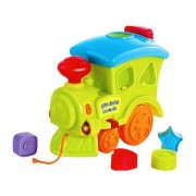 Playking Little's Pull Along Musical Train with Eject Button, Shape Sorter, Melody Keys