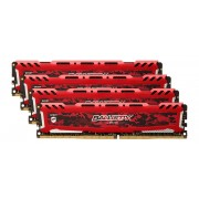 Crucial Ballistix Sport LT Rouge 64Go Kit (4 x 16Go) DDR4-3000 UDIMM
