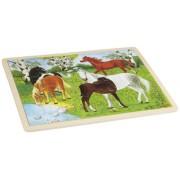 Goki Wooden Pony Farm Puzzle (48 Piece)