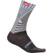 Castelli Pro Mesh 15 - calzini lunghi bici - Grey/Blue