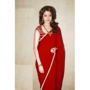 Ruchika Fashion Red Georgette Saree