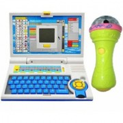 Educational 20 Activities Learning Kids Laptop with 3D Light Musical Mike (Multicolor)