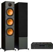 Pachete PROMO STEREO - Monitor Audio - Monitor 300 + Cambridge Audio Topaz SR20 Black Oak