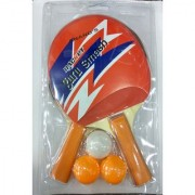 Best Ideas Pure Wooden Training Table Tennis TT Set 2 Racquets and 3 Balls In Multicolors