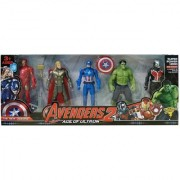 Team Avengers Set of Five Action Figures (Multicolor)