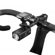 Far LED inteligent Gaciron cu USB, V7D 1600 lumeni, acumulator 4000 mAh Panasonic, compatibil montura GoPro, protectie IPX6