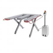 Flexlift Flachform-Hubtisch, Baureihe E Tragfähigkeit 600 kg LxB 1300 x 1150 mm, 400 V Drehstrom