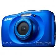 Nikon Coolpix W100 Fotocamera Digitale Impermeabile Zoom Ottico 3x Colore Blu