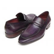 Paul Parkman Handmade Slip On Loafer Shoes Purple 068-PURP