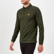 Barbour Men's Beacon Long Sleeve Polo Shirt - Forest - XXL - Green