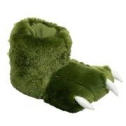 Merkloos Dierenpoot sloffen groene monster voor dames 39-42 - Sloffen - volwassenen