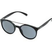 Fastrack Oval Sunglasses(Black)
