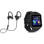 QC 10 bluetooth Headset and DZ09 Smart watch||Wireless || Wireless Headphone || Bluetooth Stereo Headphone ||Travelling Headphones XBG_216
