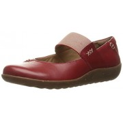 Clarks Women's Medora Elie Mary Jane Flat, Red Leather, 7 W US