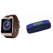 Zemini DZ09 Smartwatch and Hopestar H 11 Bluetooth Speaker for Samsung Galaxy C7 Pro(DZ09 Smart Watch With 4G Sim Card Memory Card  Hopestar H 11 Bluetooth Speaker)