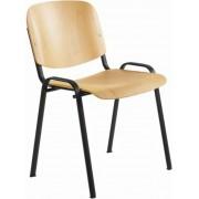 Tárgyalószék, fa ülőlappal, fekete lábbal, 1120 LN (BBSZV171)