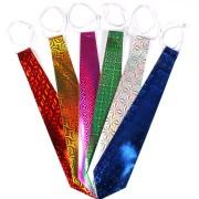Pacote Com 200 Gravatas Holográficas Coloridas