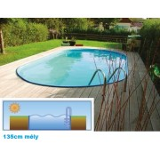 Hobby Pool Toscana fémpalástos medence 3,2 x 5,25 x 1,35m standard peremmel AS-184021