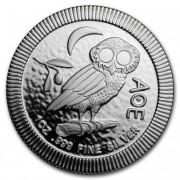 Stříbrná mince 2 Dollars Athenian Owl (sova athénská, sýček obecný) Niue 1 Oz 2018