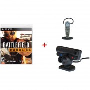 Cámara PS3 + Headset bluetooth + Battlefield Hardline PS3