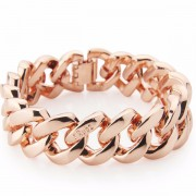 The Rubz Natural Silicone 15mm Unisex Bracelet Pink & Gold