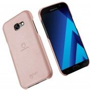 Lenuo Para Samsung Galaxy A7 (2017) / A720 Litchi Texture Pu + Pc Paste Skin Protective Case (Dorado Rosa)