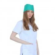 Boneta verde chirurgical, unisex, marime universala, cu prindere elastic la spate