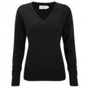 Ladies Vneck Pullover Black