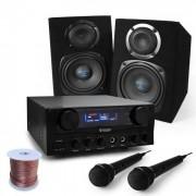 Electronic-Star 'Rio Rumble' Equipo Karaoke PA DJ Altavoces Amplificador (PL-3553-2638)