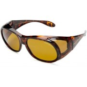 Eagle Eyes Fit Ons Polarized Sunglasses,Tortoise Frame/Gold Brown Lens,one size