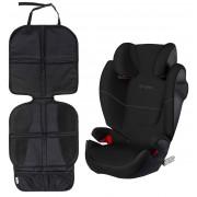 Cybex Solution M-Fix Bältesstol och Sparkskydd Lux, Pure Black