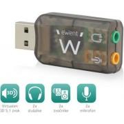 Sound card USB Virtual 5.1 3D, Ewent