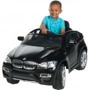 Masinuta electrica BMW X6 Black cu roti din cauciuc