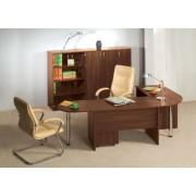 Lenza Kancelářský nábytek sestava Impress 9 tmavý ořech