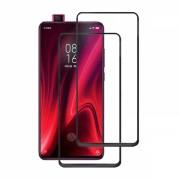 Set 2 folii protectie sticla securizata fullsize pentru Xiaomi Redmi K20 / K20 PRO / Mi 9T / 9T Pro, negru