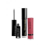 Set cadou Bourjois Reveal Your Parisian Beauty (Mascara Volume Reveal, 22 Ultra Black, 7.5 ml + Tus Liner Reveal Shine, Black, 2.5 ml + Ruj de buze Rouge Velvet, 03 Hyppink Chic, 2.4 g)