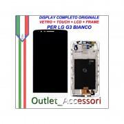 Display LG G3 Optimus D855 Bianco Vetro Touch Lcd Frame Schermo Originale
