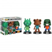 Funko Pop Greedo Hammerhead Walrus Man 3 Pack W Sticker Exclusivo