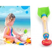 BXT Kids Beach Toys 2 in 1 Play Sand Shovel/Water Cannon Playing Set Summer Water Squirt Guns Soaking Guns Shooter Toys