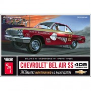AMT 1962 Chevy Bel Air SS 409 Joe Gardner Racing Version Northwind Super Stock 1/25 Scale Drag Racer Deluxe 2-in-1 Model Kit