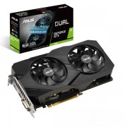 VGA Asus DUAL-GTX1660-6G-EVO, nVidia GeForce GTX 1660, 6GB, do 1815MHz, 36mj (90YV0D14-M0NA00)